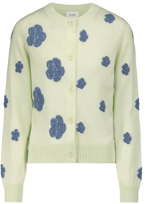 Barrie Embroidered cashmere and cotton cardigan