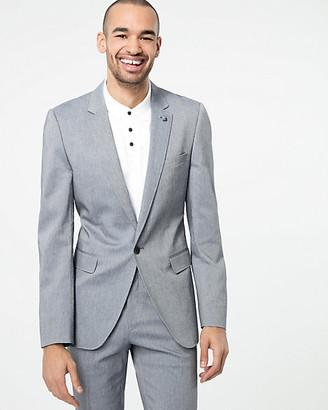 Le Château Two-Tone Cotton Blend Slim Fit Blazer