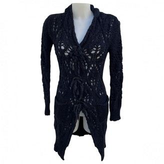 Twin-Set Twin Set Black Wool Coat for Women