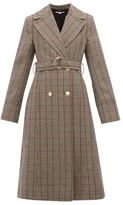 Stella McCartney Pow Double-breasted Checked Wool Coat - Womens - Black