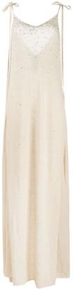 Alanui Crystal-Embellished Knitted Dress