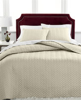 Charter Club Damask Collection Herringbone Pima Cotton 3-Pc Queen Quilted Bedspread Set