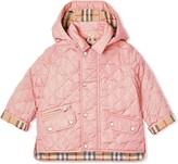 Burberry detachable hood diamond quilted jacket