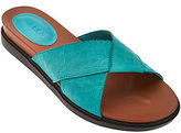As Is LOGO by Lori Goldstein Leather Strap Sandals