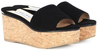 Jimmy Choo Deedee 80 suede wedge sandals