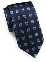 Saint Laurent Floral Square Silk Tie
