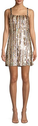 Parker Nava Beaded Sleeveless Mini Dress