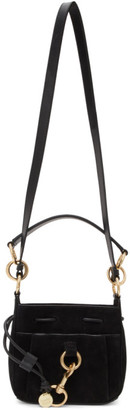 See by Chloe Black Small Suede Tony Bucket Bag