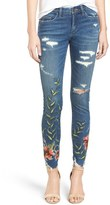 Blank NYC Women's Blanknyc Embroidered Distressed Skinny Jeans