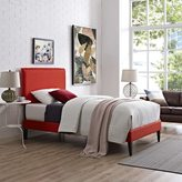 Modway Camille Atomic Red Wood Polyester Fabric Platform Bed