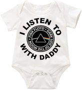 Anicelook I Listen to Pink Floyd with my daddy infant romper onesie creeper (3-6months, )