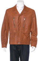Michael Kors Leather Button-Up Jacket w/ Tags