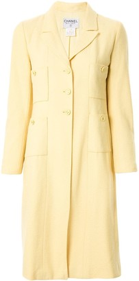 Chanel Pre Owned Slim-Fit Midi Coat