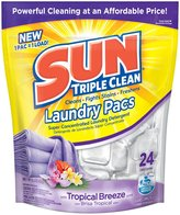 Sun Triple Clean Laundry Detergent Pacs