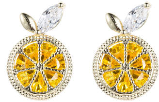 Eye Candy Los Angeles Eye Candy La Lemon Squeeze Cz Crystal Stud Earring
