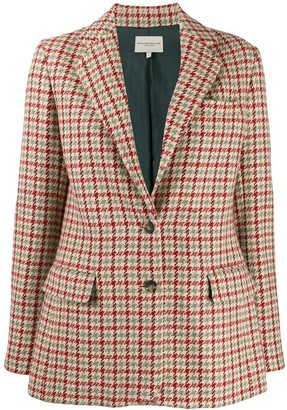Holland & Holland Houndstooth Fitted Blazer
