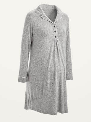 Old Navy Maternity Plush-Knit Long-Sleeve Nightgown