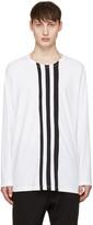 Y-3 White Three Stripe T-shirt