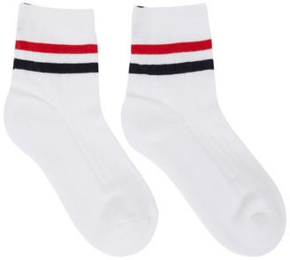 Thom Browne White RWB Thin Stripe Athletic Socks