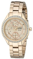 Citizen FD1063-57X Eco-Drive POV 2.0 Rose Gold Tone Swarovski Crystal Watch