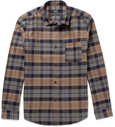 A.p.c. - Milan Checked Cotton And Linen-blend Shirt