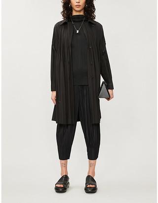Pleats Please Issey Miyake Notch-lapels woven coat