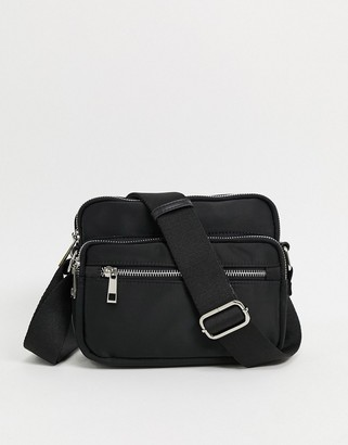 Nunoo Kazuko double compartment cross-body bag in black