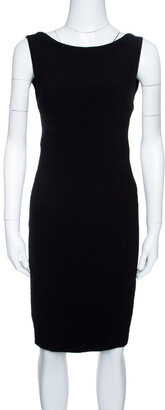 DSQUARED2 Black Sleeveless Sheath Dress S