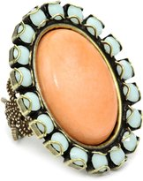 "Liz Palacios Crystales Opalos"" Crystal and Cabochon Ring"