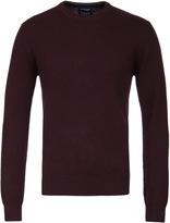 Hackett Maroon Lambswool Crew Neck Sweater