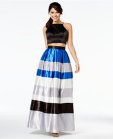 Teeze Me Juniors' Two-Piece Colorblocked Lace-Up Dress, A Macy's Exclusive Style