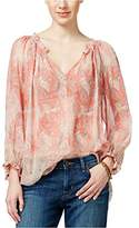 Lucky Brand Women's Faded Paisley Top