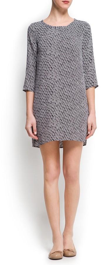 MANGO Printed shift dress