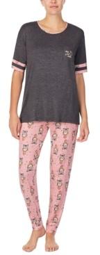 Cuddl Duds Owl-Print Pajama Set