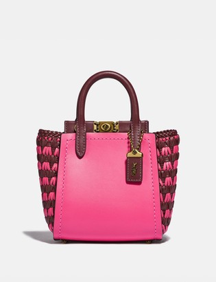 Coach Troupe Tote 16 With Weaving