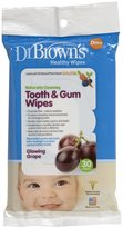 Dr Browns Dr. Brown's Tooth & Gum Wipes - Glowing Grape