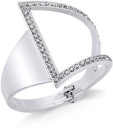INC International Concepts Silver-Tone Asymmetrical Crystal Cuff Bracelet, Only at Macy's