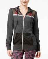 Material Girl Active Juniors' Mesh Zip-Up Hoodie, Only at Macy's