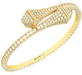 Marli Cleo By 18K Yellow Gold & Diamond Bangle Bracelet