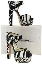 Brian Atwood Karin Pony Hair Platform Sandals