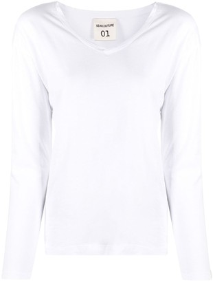 Semi-Couture v-neck cotton T-shirt
