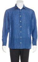 Luciano Barbera Linen Paisley Shirt w/ Tags