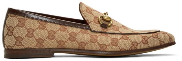 Gucci Beige New Jordaan Loafers