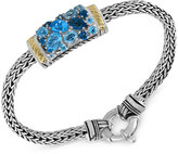 Effy Ocean Bleu By Blue Topaz Bracelet (4-9/10 ct. t.w.) in Sterling Silver and 18k Gold