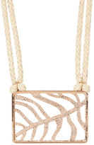 Vince Camuto Hemp Cord Square Leaf Pendant Necklace