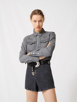 Maje Trompe-lil-effect playsuit in denim