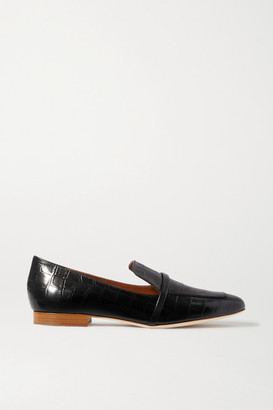 Malone Souliers Jane Croc-effect Leather Loafers - Black