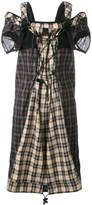 Maison Margiela backpack strap tartan dress