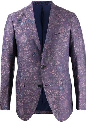 Etro Floral-Jacquard Blazer
