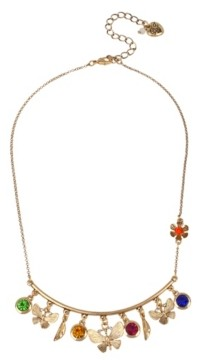 Betsey Johnson Butterfly Charm Necklace